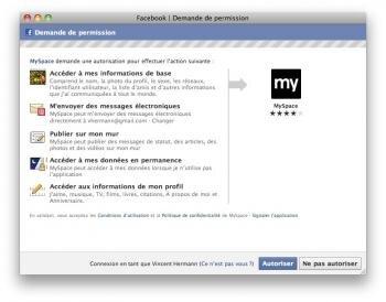 myspace facebook connect