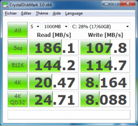 LDLC ordinateur portable CrystalDiskMark Agility
