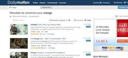 orange dailymotion 49% participation capital