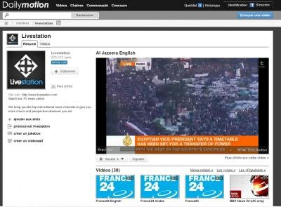 dailymotion livestation chaîne direct
