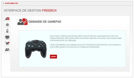 Freebox Révolution Manette