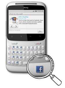 HTC Salsa Chacha Facebook