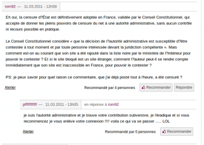 ROM 20minutes commentaires LOPPSI censure net