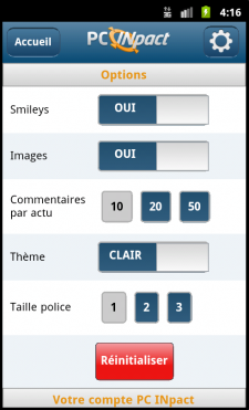 PC INpact Mobile HTML 5 Android