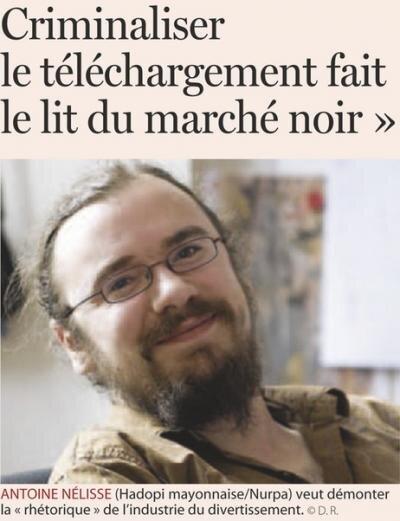 Hadopi Mayonnaise Belgique Antoine Nelisse