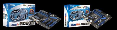 MSI Z68 Z68A-GD80 S68MA-ED55