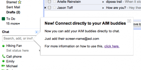 gmail aim