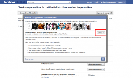 facebook reconaissance visage