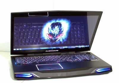 Alienware M17x light on