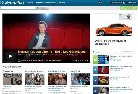 Dailymotion page d'accueil