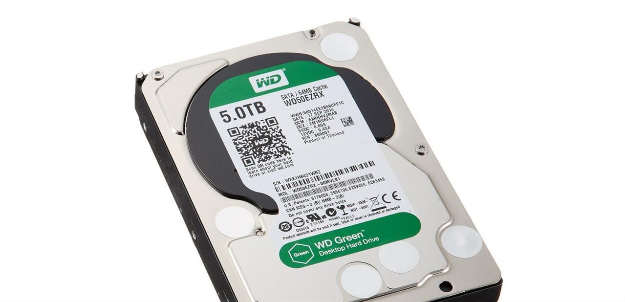 Un disque sur Western Digital Green de 5 To : 194,90 €