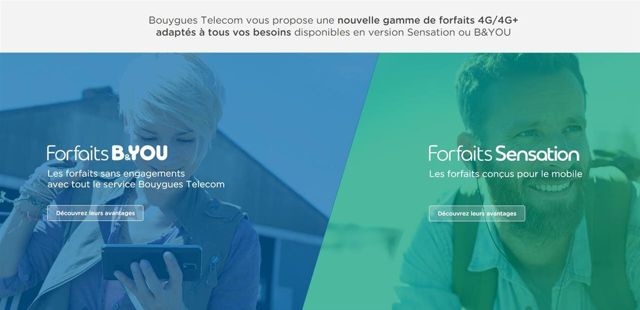 Bouygues : 10 % de réduction à partir de 2 forfaits mobiles
