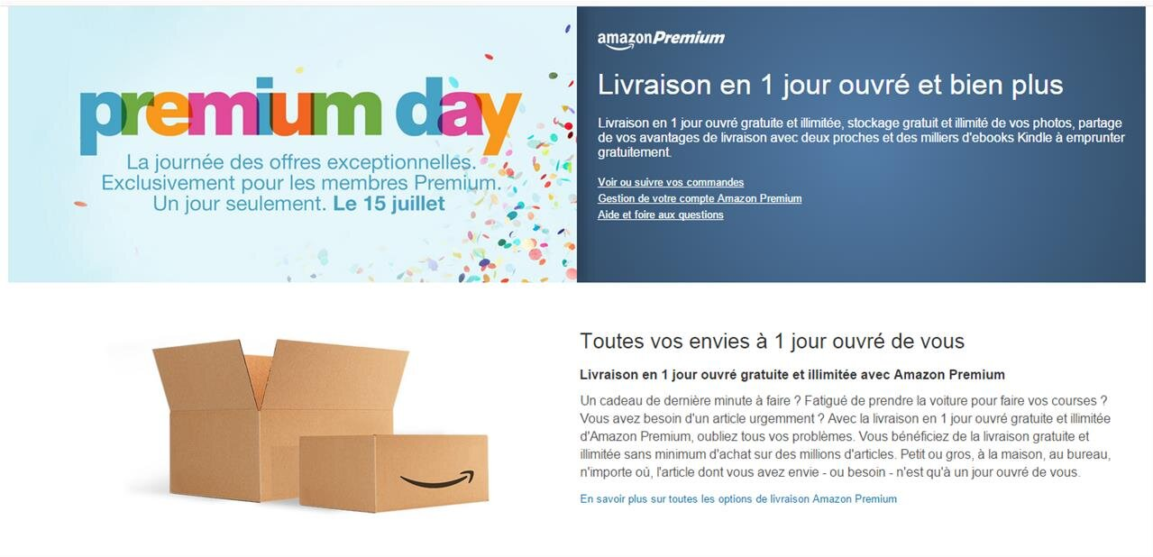 Un an d'Amazon Premium pour 29 euros